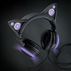 Brookstone Axent Cat Headphones in purple.